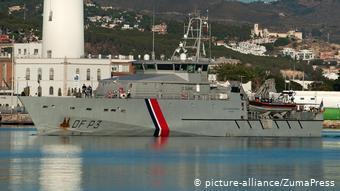 Περιπολικό σκάφος της Frontex στο λιμάνι της Μάλαγα στην Ισπανία