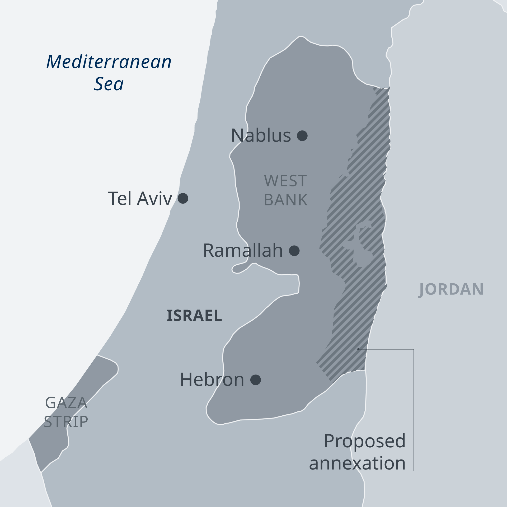 Η επίμαχη περιοχή στη Δυτική Όχθη του Ιορδάνη