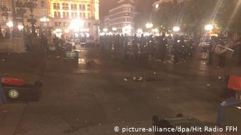 H Πλατεία της Όπερας στην Φρανκφούρτη, όπου σημειώθηκαν τα επεισόδια το βράδυ της 18ης προς την 19η Ιουλίου