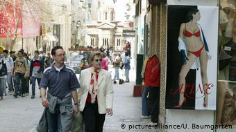 Griechenland Athen - Ermou Einkaufsstrasse (picture-alliance/U. Baumgarten)