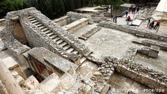 Σκάλα στο παλάτι της Κνωσσού στη Κρήτη