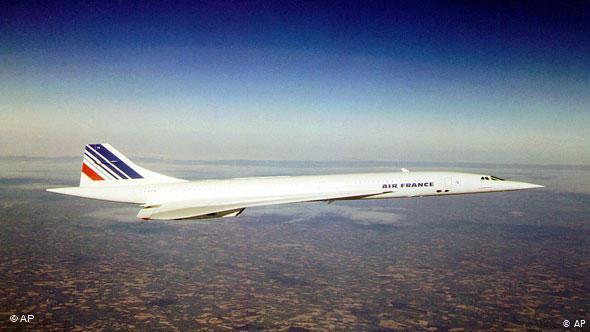 Κονκόρντ της γαλλικής αεροπορικής εταιρίας Air France στα τέλη της δεκαετίας του '90