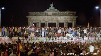 Πύλη του Βρανδεμβούργου στις 9 Νοεμβρίου 1989